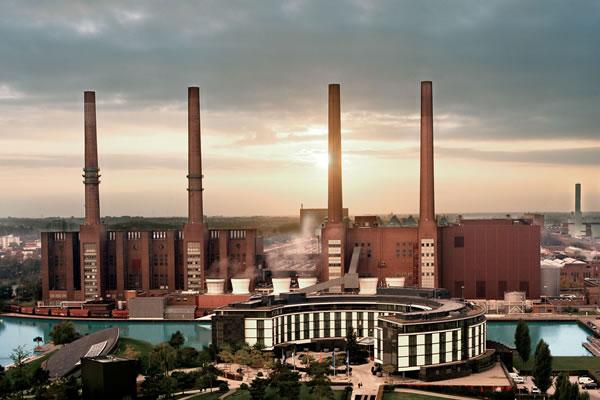 Aerial of round-shaped hotel ©The Ritz-Carlton, Wolfsburg