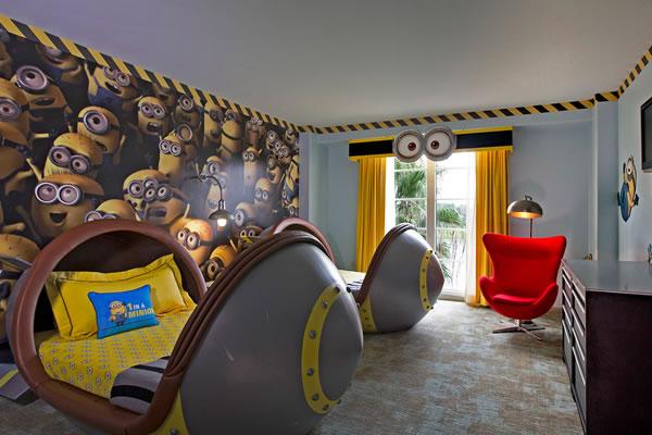 Despicable me Kids Suite at Loews Portofino Bay Hotel ©Universal Studios Orlando