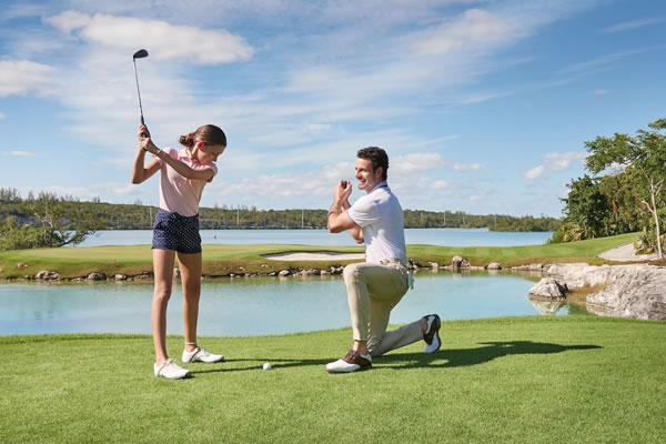 Father & Daughter Golftime ©Grand Hyatt Baha Mar
