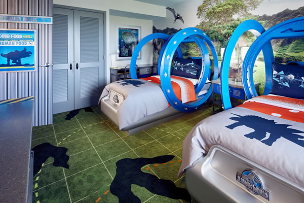 Are Your Kids into Jurassic World or Despicable Me? Now They Can Sleep in Their Very Own Gyrospheres and Missile Beds