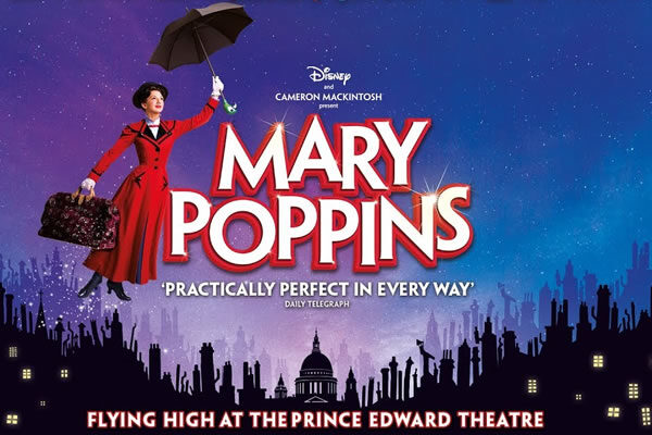 Mary Poppins Musical at Prince Edward Theatre ©Disney