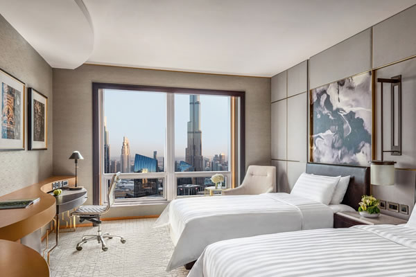 Deluxe Burj Khalifa View Room ©Shangri-La Hotel, Dubai