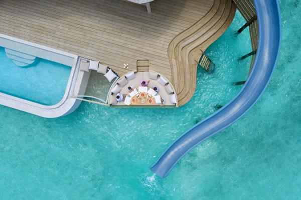 One-Bedroom Water Retreat with Slide ©Soneva Fushi, Maldives
