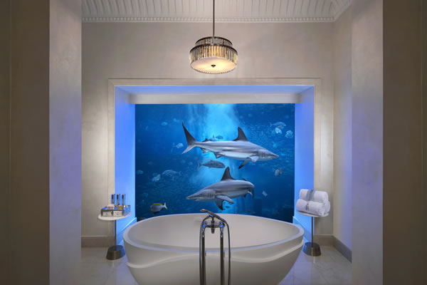 Bathing with a View at Underwater Suite ©Atlantis The Palm Dubai