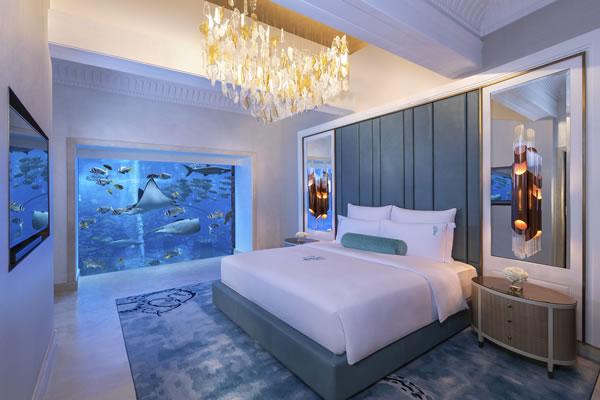 Main Bed Room Underwater Suite ©Atlantis The Palm Dubai