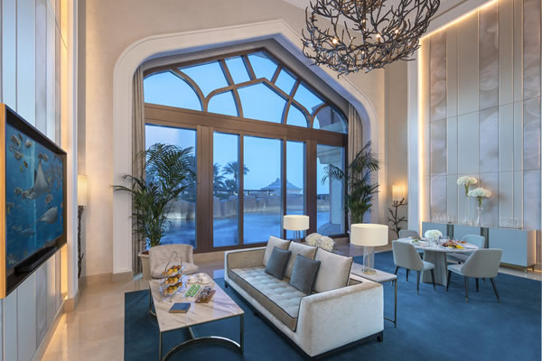 Living Room at Underwater Suite ©Atlantis The Palm Dubai