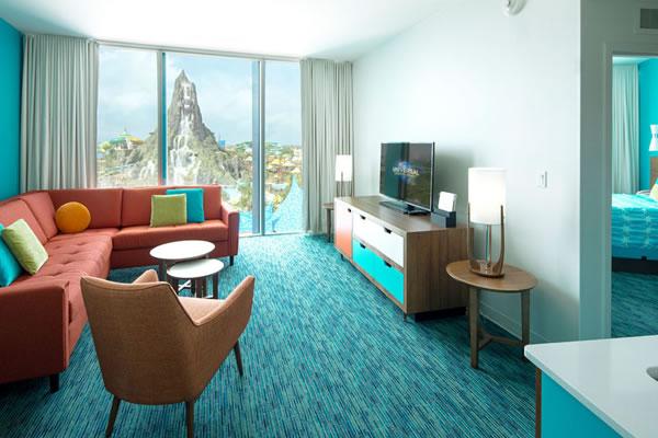Volcano Bay View Suite at Universal's Cabana Bay Beach Resort ©Universal Studios Orlando