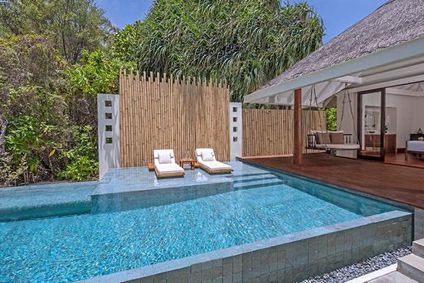 One-Bedroom Family Beach Pool Villa ©Anantara Kihavah Maldives Villas