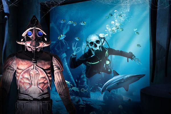 The Haunted Chambers at The Lost Chambers Aquarium ©Atlantis The Palm Dubai